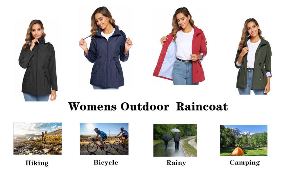 women lightweight raincoat