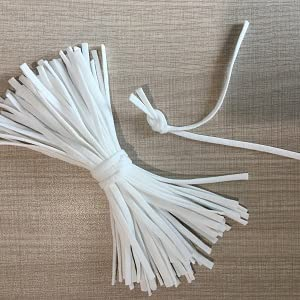 elastic bands for sewing 1/4 1/8 quarter inch elastic cord string for masks braided round thin