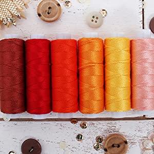 perle cotton thread sunrise