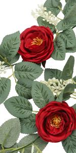 rose vine garlands realistic