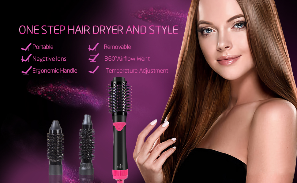 3 IN 1 Detachable Combo Hot Air Hair Brush