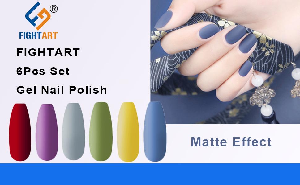 matte effect gel nail polish