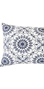 navy lumbar throw pillows
