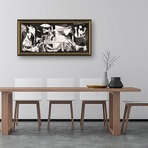 Guernica by Pablo Picasso - Gold Frame