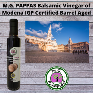 M.G. PAPPAS Balsamic Vinegar of Modena Barrel Aged IGP Sweet Gourmet 10 Year Old Aceto Balsamico