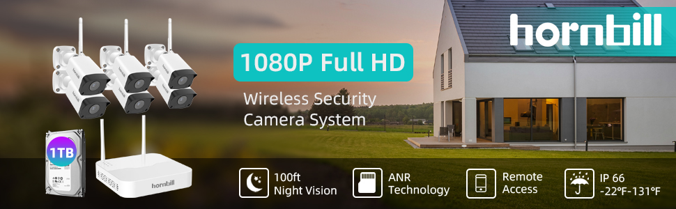 6 security camera system wireless