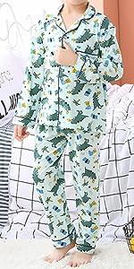 Betusline Boys 2 Piece Pajamas Set