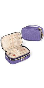 Teamoy Small Travel Jewelry Case