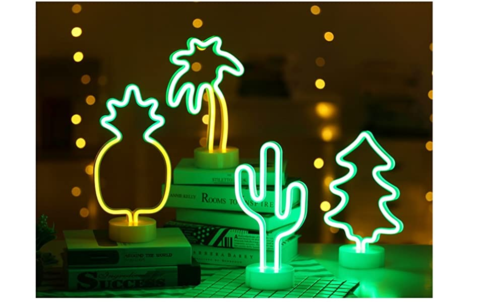 pineapple neon night light