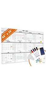 large dry erase wall calendar