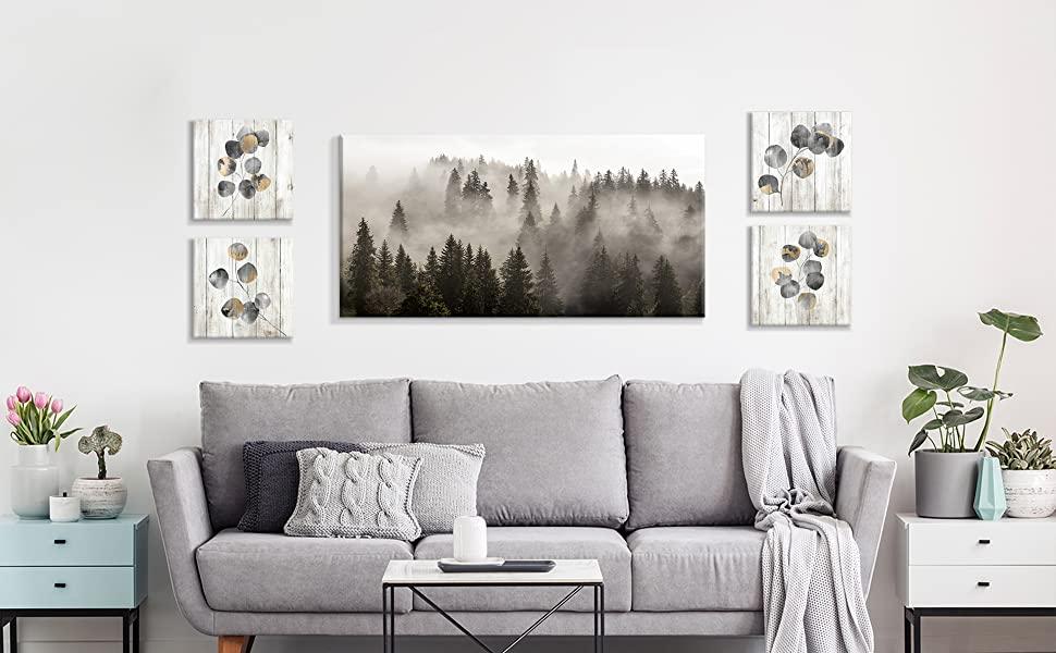 fall forest wall art