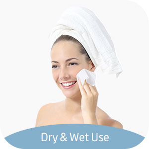 dry and wet use cotton tissues