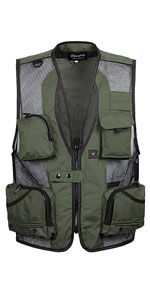 Mens Summer Lightweight Multi-Pockets Mesh Fishing Photography Vest Sleeveless Jacket