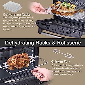 Dehydrating Racks and Rotisserie