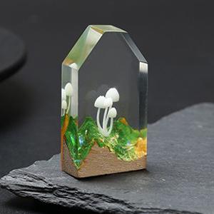 iSuperb 9 pcs 3D Mini Mushroom Resin Filling Handmade Diy Crystal Epoxy Resin Filler Stereo Vivid