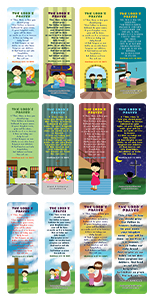 The Lord's Prayer Bible Bookmarks for Kids