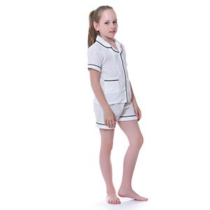 boy white jammies for toddler little girl