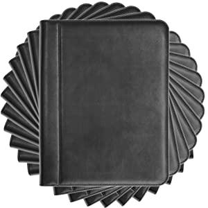 Black Leather Padfolio Portfolio Folio