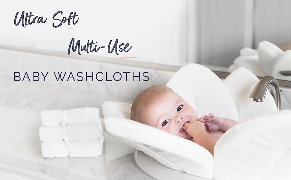 bamboo baby washcloths natural washcloth face towels for adults kids babies