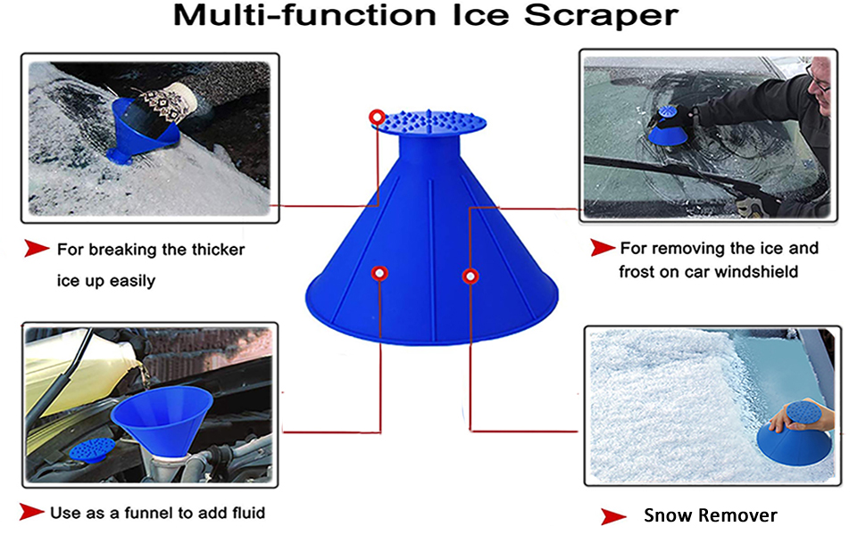 car windshield ice scraper