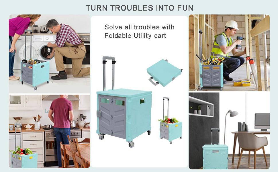 rolling folding cart heavy duty