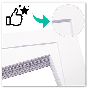 quality white core white matting precut