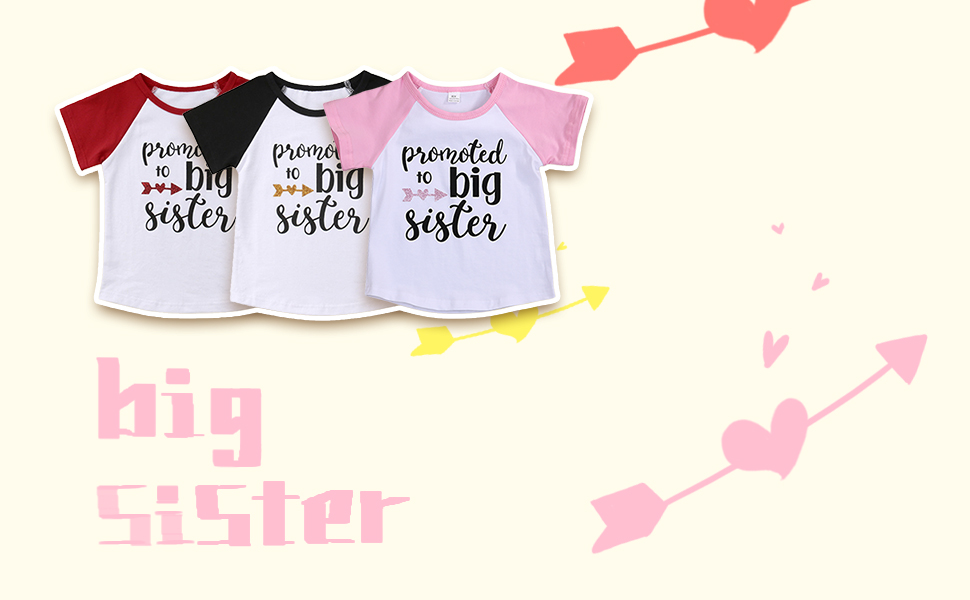 3 Colors promoted to big sister T-shirt