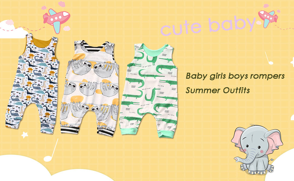Baby boy Girl Romper Jumpsuit Outfits Clothes