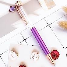 purple crystal empty tube floating pen