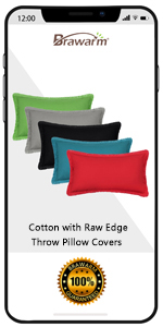 Cotton Raw Edge Pillow Covers