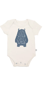 finn and emma, graphic bodysuit, funny onesie, baby gifts, organic baby clothes, newborn, infant