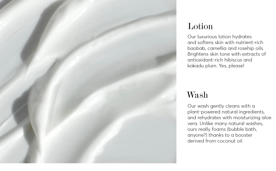 clean body care, wash, lotion