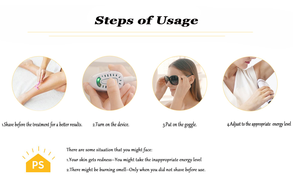How to use ipl hair removal device