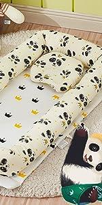 panda baby nets bed
