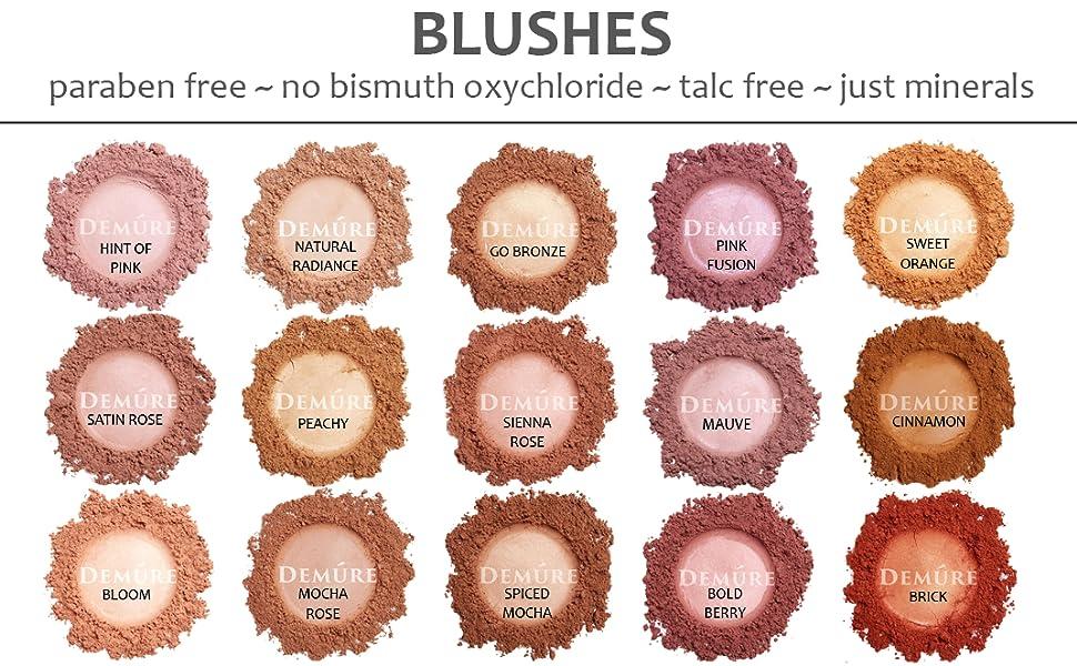 blush mineral makeup loose powder natural skincare organic pink coral