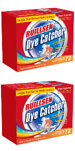 RUILLSEN Dye Trapping Sheets, Laundry Fragrance Free Color Catcher Collector In-Wash 72X2