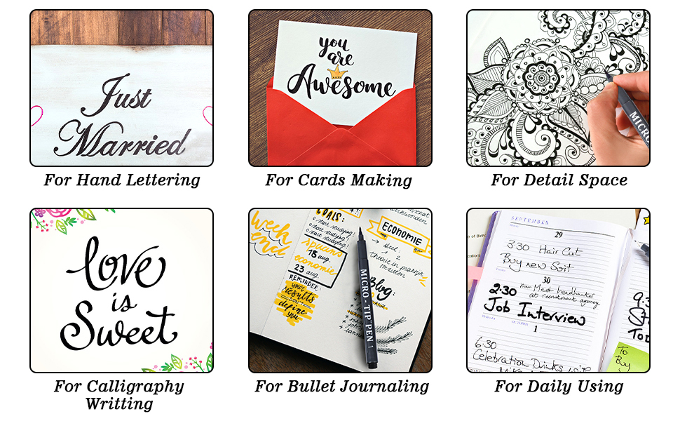 Perfect for Writing, Card Making, Lettering, Bullet Journaling,Scrapbooking