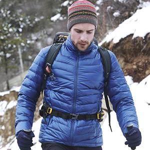 mens lightweight down jacket for winter