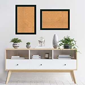 framed wood cork board