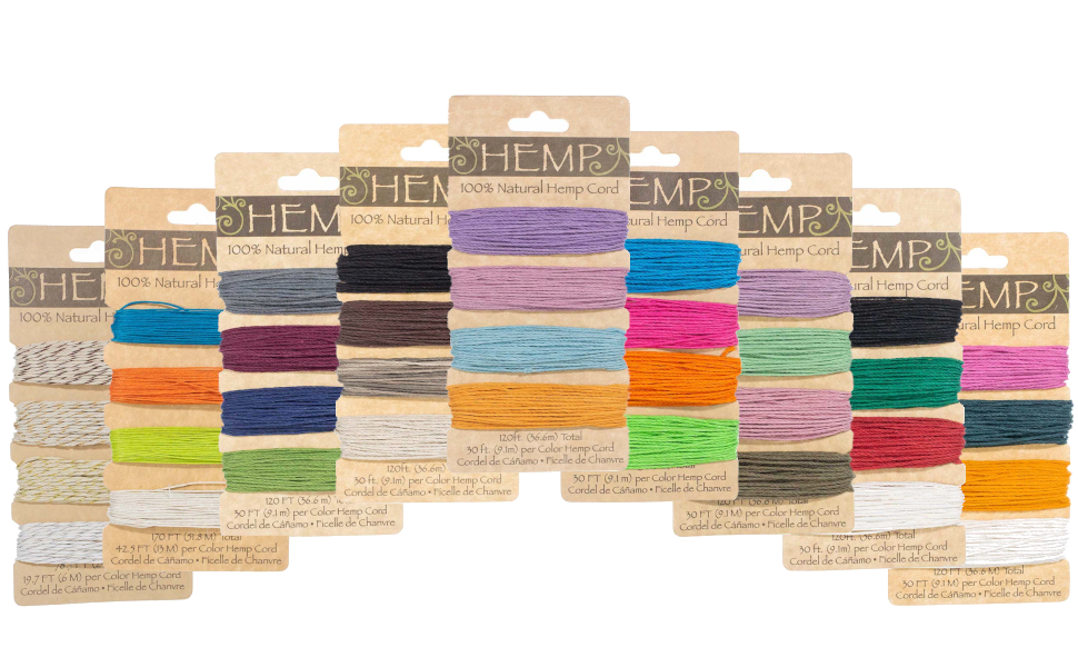 all colors variety hemp cord