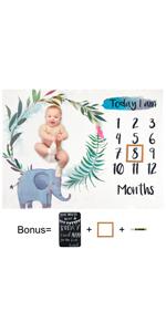 baby shower gifts gender reveal baby photo prop newborn basket filler