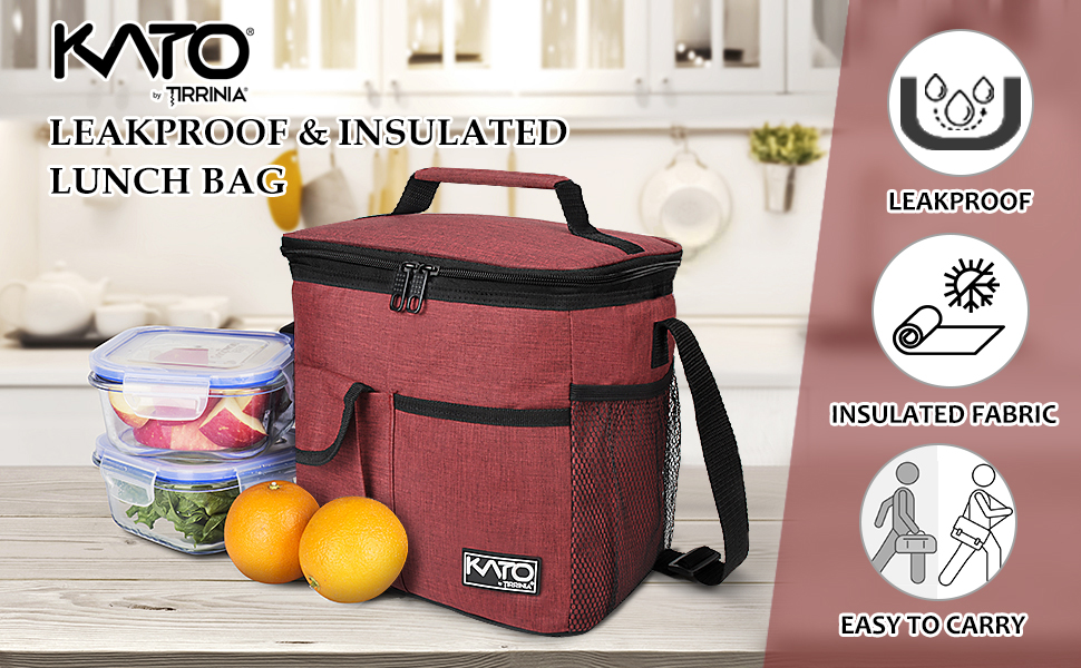 Large Insulated & Leakproof Lunch Bag
