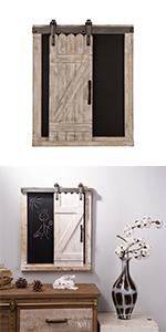 Rustic Wooden Chalkboard Sliding Barn Door