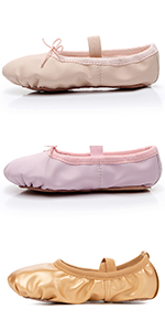 Girls Leather Ballet Dance Shoes Women Pointe Shoes Slippers Flats Yoga Shoe