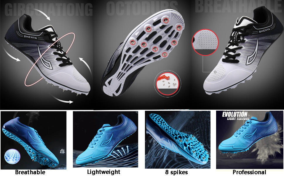 track spikes shoes men