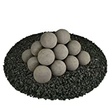 Ceramic Fire balls small multiple 3 inch circular fire proof modern new unique