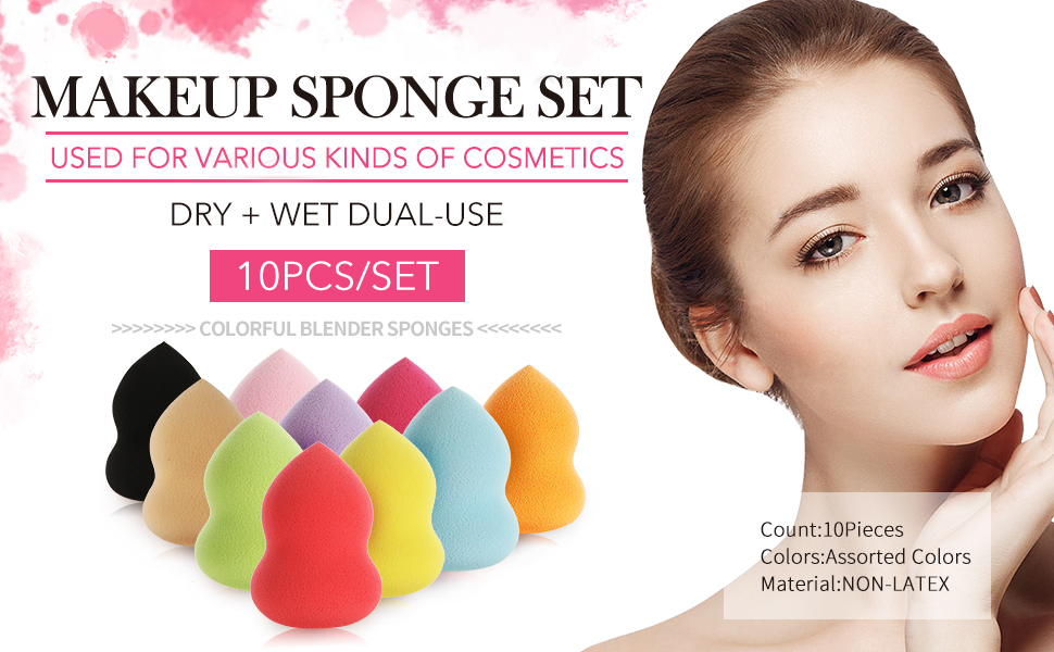 10 PCS Makeup Sponge Set