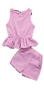 pink baby girl plaid clothes