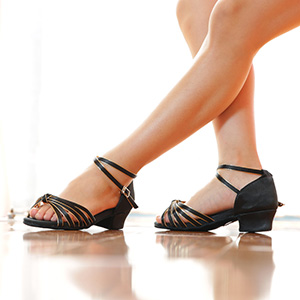 Girls Ballroom Shoes with Knots