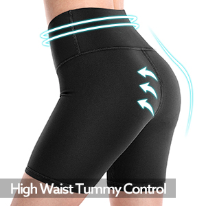 high waist yoga shrots